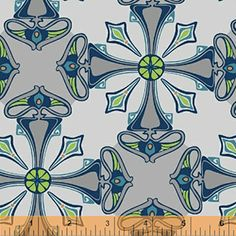 Tapestry Pewter from the Kingdom fabric collection by Jessica Levitt for Windham Fabrics