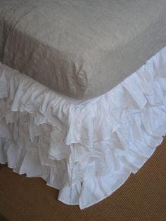 ruffled bedskirt...