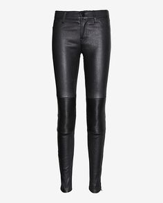 J Brand Nicola Quilted Moto Detail Leather Pant: Pewter