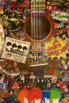 Hippy music, life, hippi, color, art, guitars, peac, beatl guitar, thing