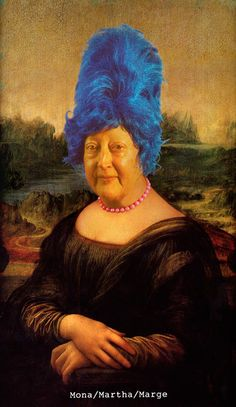 Mona/Martha/Marge by Martha Wilson, who's giving a free talk at The Art League May 22. RSVP here: http://www.eventbrite.com/e/martha-wilson-and-the-franklin-furnace-tickets-11120264009