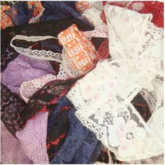 Bundle of Lace Off Cuts for Creative Weaving