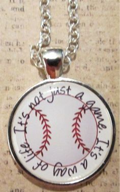 Baseball It's Not Just a Game Necklace