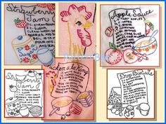 Recipe embroidery patterns
