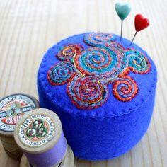 Gorgeous felt pincushion by @Ali Velez Velez Velez Velez @ Very Berry
