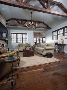 Beautiful Walnut hardwood floors!