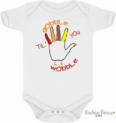 First Thanksgiving, Baby Girl, Baby Boy, Thanksgiving Outfit, Cute Thanksgiving, Gobble Til You Wobble, Thanksgiving Shirt, Newborn, Infant