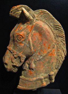 Terracotta Head of a Horse Origin: Mediterranean Circa: 300 BC to 100 BC