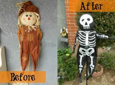 From scarecrow to skeleton! Check out this #JoAnn #Halloween idea with a giftcard giveaway from @Amanda Snelson @ The Little Giggler :)