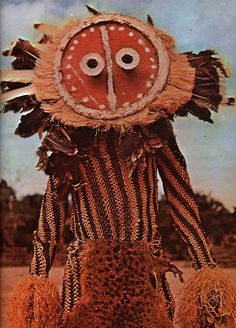 Africa | Minganji Dancer. Minganji costumes are found throughout the Pende areas of southwest D.R. Congo | Photographer ?