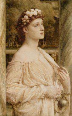 Sir Edward John Poynter - A Vestal Portrait Of Miss Violet Lindsay (1240х2000)