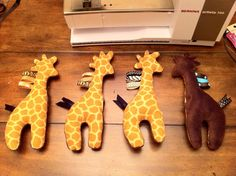 Craftin' It: Tutorial: Baby Toy - Stuffed Giraffe