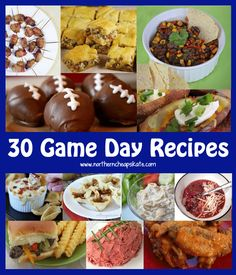 30 Game Day Recipes For a Crowd - http://www.northerncheapskate.com/game-day-recipes/