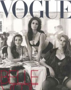 vogue italia - plus size models on the cover