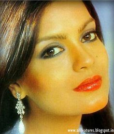 Zeenat Aman, famous Bollywood actress from the 1970s and 1980s, brought the word sexy to Indian cinema