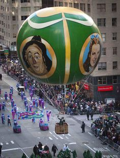 The Wizard of Oz float makes its way down 6th Avenue during the 87th Annual Macy's Thanksgiving Day Parade.