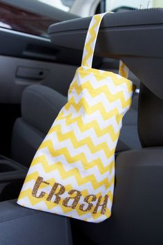 No Sew Car Litter Bag Tutorial by Natalme!