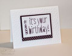 Jill's Card Creations: Clean and Simple Birthday