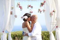 Barbara Taylor wears Amanda Wakeley Sposa wedding dress 'Alana' on her wedding day.