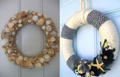 Nautical Holiday Wreaths!!! Love these