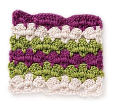 Scallop Stripes - variation on block stitch pattern crochet