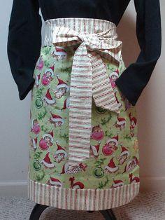 (pretty nifty....Fat quarter apron