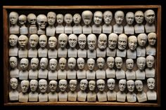 Sixty Miniature Heads Used in Phrenology, 1831