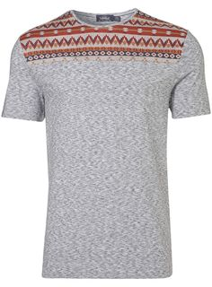 £18 - RED AZTEC CUT AND SEW TEE