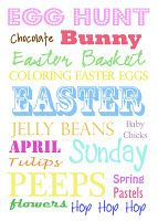 Easter Subway Art Printables