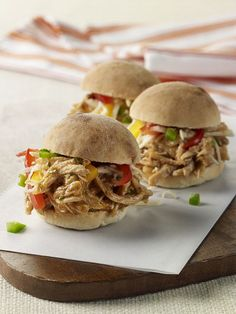 Pulled Chicken Sliders with Mango Barbecue Sauce and Pepper Jicama Slaw