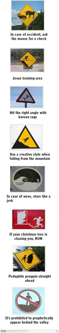 The real meaning of road signs