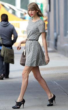 The singer shows off her gorgeous gams while out and about the Big Apple.