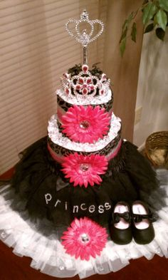 little girls, shower gifts, princess tutu, diaper cakes, baby girls