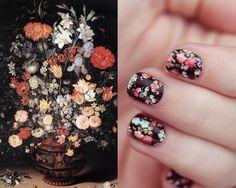jan brueghel the elder - my favorite flower painting on nails.  very cool