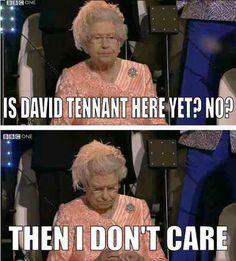 Seriously, no David and  no Doctor Who of any kind.  At all.