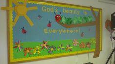 Spring bulletin board for church.