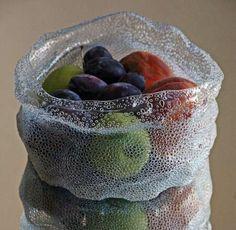 Upcycled Plastic Bottles: Unique  Beautiful Art Fruit bowl DIY instructions
