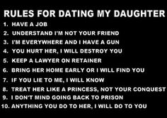 Rules for dating my daughter quotes