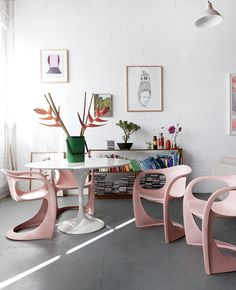 decor, interior, dine, idea, pink chair