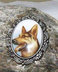 Brooch German Shepherd Dog