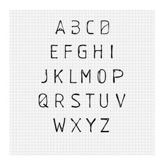 """Schablone Typeface"" by marcoterre"