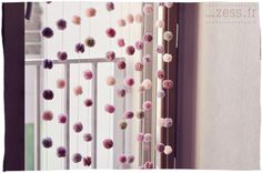 DIY- rideau de pompons