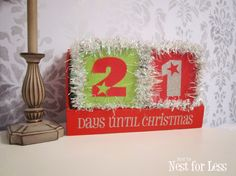Christmas Tinsel Block Calendar - How to Nest for Less™
