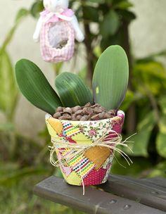 Découpage em vaso / DIY, craft