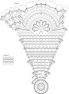 Crochet umbrella shema by lermolaeva, via Flickr