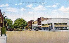West Market Street, Nappanee, Indiana Postcard
