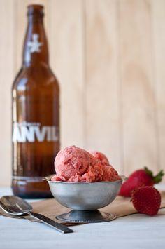 Strawberry Beer Sorbet