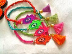 SALEBOHEMIAN  HAMSA Ethnic BraceletsAmulet Bracelets by Nezihe1