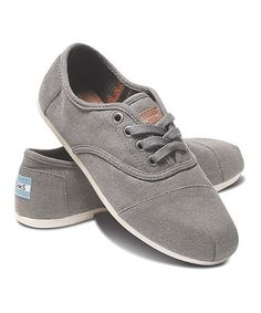 Love this Taupe Waxed Twill Cordones by TOMS on #zulily! #zulilyfinds
