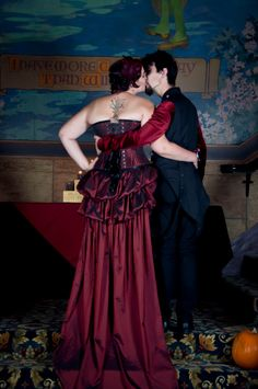 That deep red dress! Gorgeous.